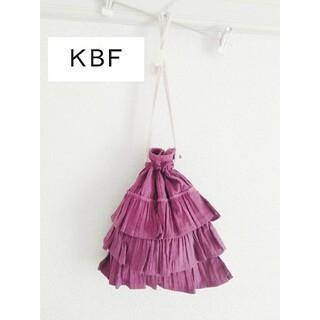 KBF - 送料込み!KBFフリル巾着ポーチミニバック紫パープル浴衣