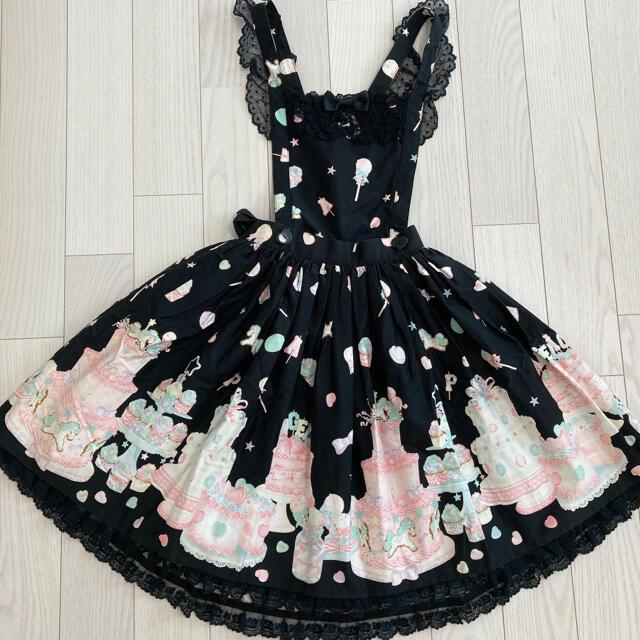 Angelic Pretty Decoration Dream スカート jsk レディースのスカート(ひざ丈スカート)の商品写真