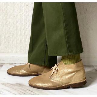 クラークス(Clarks)の珍品 vintage イタリア製 J.CREW ラメ加工 デザートブーツ 靴(ブーツ)