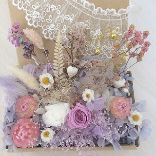 花材4 プリザーブドフラワー ローズ ドライフラワー(各種パーツ)