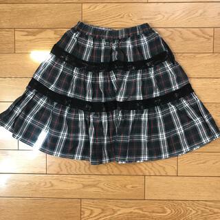 ハッカキッズ(hakka kids)のHAKKA KIDS 110 チェックスカート(スカート)