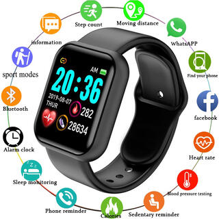 スマートウォッチ 116plus レッド スマートブレスレット ウェアラブル(腕時計(デジタル))