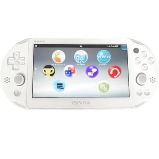 プレイステーションヴィータ(PlayStation Vita)の【準美品】PlayStation®Vita ホワイト 2000 Wi‐Fiモデル(携帯用ゲーム機本体)