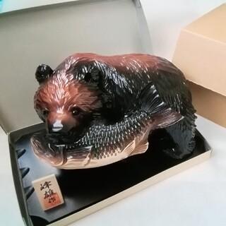 【北海道土産】木彫り熊(熊の木彫り)★美品(彫刻/オブジェ)