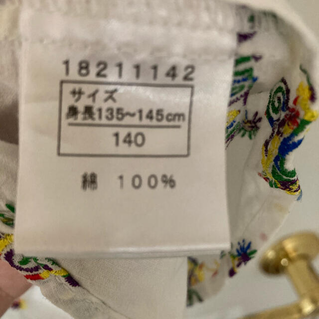 HYSTERIC MINI(ヒステリックミニ)のヒステリック ミニ 刺繍 半袖 ブラウス 140 キッズ/ベビー/マタニティのキッズ服女の子用(90cm~)(ブラウス)の商品写真