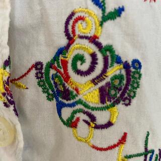 HYSTERIC MINI - ヒステリック ミニ 刺繍 半袖 ブラウス 140