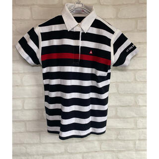 ルコックスポルティフ(le coq sportif)のルコックスポルティフ ゴルフウェア レディース 半袖シャツ ポロシャツ Mサイズ(ウエア)