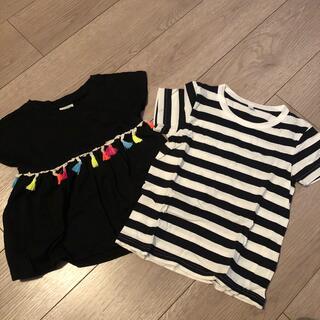 女の子 Tシャツ 2枚セット 100センチ