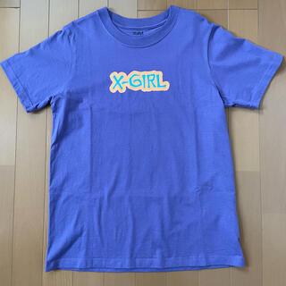 エックスガール(X-girl)の【美品 X-girl エックスガール Tシャツ 半袖 サイズ2 パープル】(Tシャツ(半袖/袖なし))