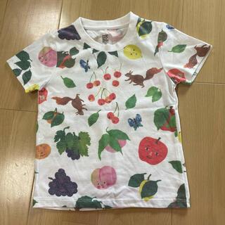 Design Tshirts Store graniph - グラニフ ツペラツペラ くだものさんTシャツ 110センチ