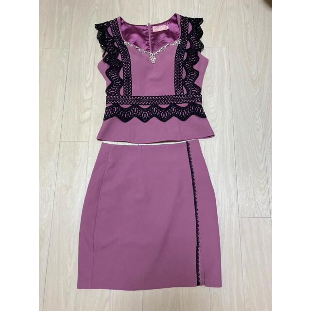 ドレス ワンピース セットアップ キャバ レディースのフォーマル/ドレス(ミニドレス)の商品写真