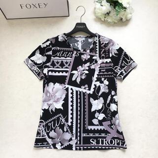【美品】LEONARD レオナール  ストレッチ トップス  Tシャツ