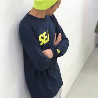 WIND AND SEA ロングスリーブtシャツ ネイビー M