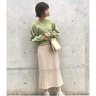 カスタネ(Kastane)のkastane 柄編み切り替えカットスカート (ロングスカート)