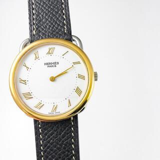 エルメス(Hermes)の【仕上済】エルメス アルソー コンビ ゴールドインデックス ボーイズ 腕時計(腕時計)