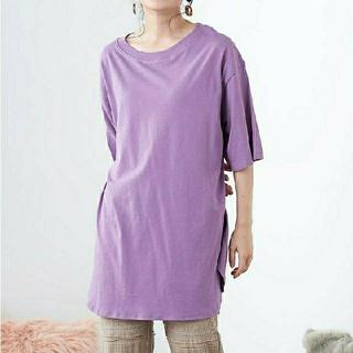 オリーブデオリーブ(OLIVEdesOLIVE)の【新品】オリーブデオリーブ  olive des olive 裾ラウンドTシャツ(Tシャツ(半袖/袖なし))
