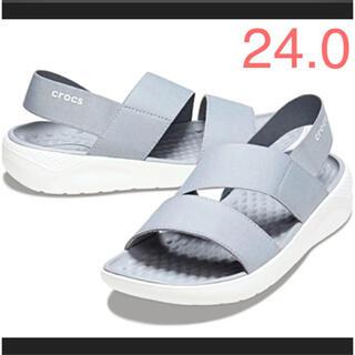 crocs - クロックス☆ライトライド ストレッチ サンダル 24.0