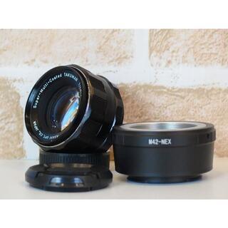 ペンタックス(PENTAX)のSMC Takumar 55mm F1.8 SONY Eマウントアダプター付(レンズ(単焦点))