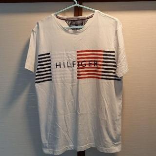 TOMMY HILFIGER - お値引きTOMMY HILFIGER綿Tシャツ白プリント刺繍M新品未使用