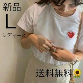 COMME des GARCONS - 入手困難 プレイコムデギャルソン レディース Tシャツ Lサイズ ホワイト