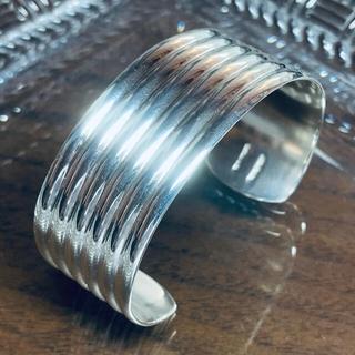 ティファニー(Tiffany & Co.)のVINTAGE TIFFANY ティファニー ワイド リブ カフ ブレスレット(ブレスレット/バングル)