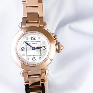 カルティエ(Cartier)の【仕上済】カルティエ ミスパシャ 金無垢 ダイヤ レディース 時計(腕時計)