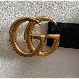 Gucci - GUCCI ベルト ダブルGロゴバックル