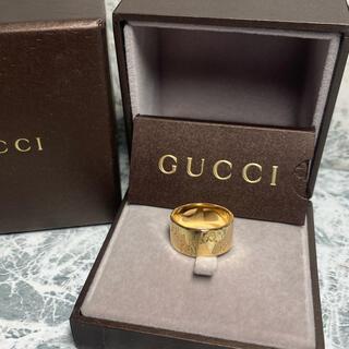 Gucci - 正規品/美品/GUCCI/ICON ワイドRING/K18YG/8.8g