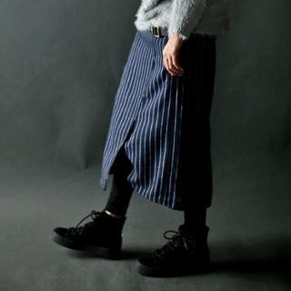 アンティカ(antiqua)のアンティカ  ストライプスカート【タグ付き】(ひざ丈スカート)