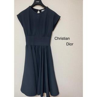 クリスチャンディオール(Christian Dior)の(美品)Christian Dior 2020ss ウール&カシミア ワンピース(ひざ丈ワンピース)