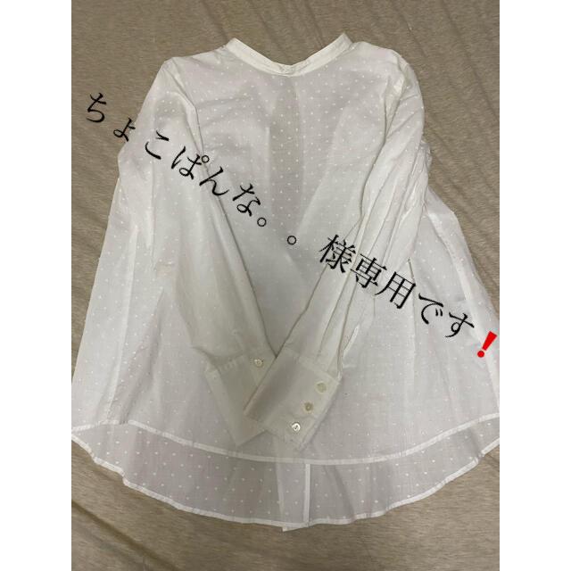 IENA SLOBE(イエナスローブ)のイエナスローブ ドット 白 シャツ レディースのトップス(シャツ/ブラウス(長袖/七分))の商品写真