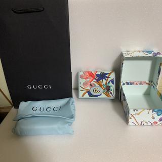 Gucci - グッチ フローラ 二つ折り 財布 ブルー コインケース コンパクト ミニ 花柄