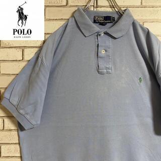 POLO RALPH LAUREN - 90s 古着 ポロ ラルフローレン ポロシャツ 刺繍ロゴ ゆるだぼ