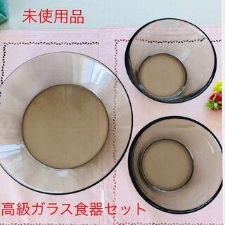 格安!高級キッチンツール ガラス食器3点セット(食器)