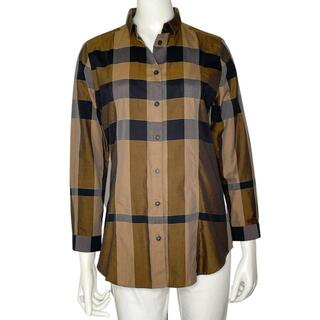 BURBERRY - 【SALE】バーバリーロンドン 長袖チェックシャツ 40 ブラウン Q6