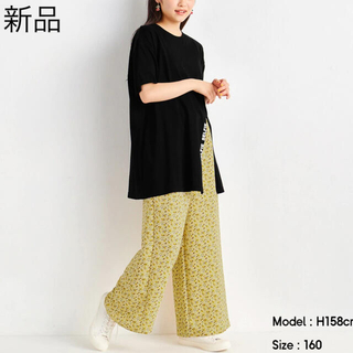 GU - ⦅新品⦆ GU 花柄 ワイドパンツ