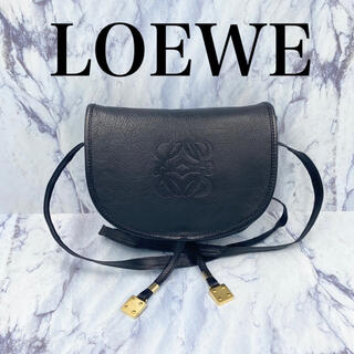 LOEWE - 希少⭐️オールドロエベ ヴィンテージ ショルダーバッグ ポシェット ハーフムーン