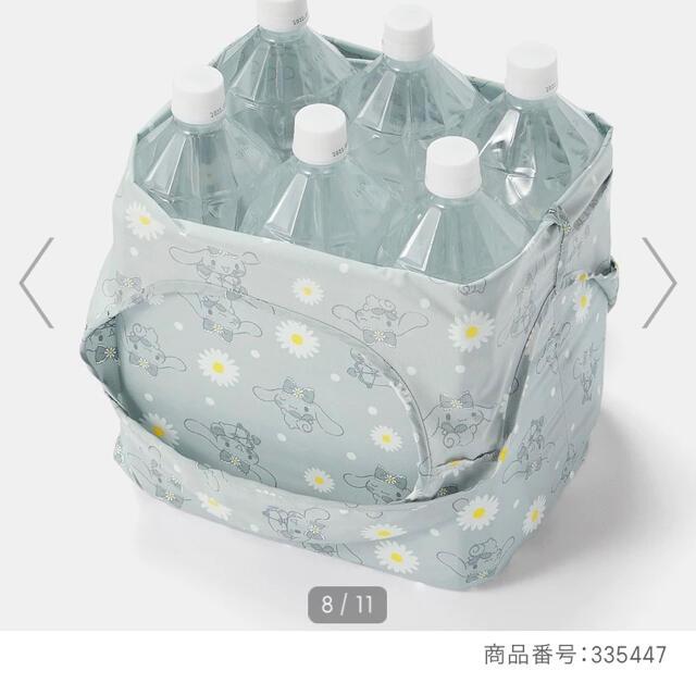 シナモロール(シナモロール)のシナモロール シワになりにくい生地を使用した花柄エコバッグ 抗菌防臭機能つき! レディースのバッグ(エコバッグ)の商品写真