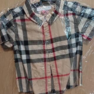 BURBERRY - 【2Y92cm】バーバリー チェック柄 半袖シャツ クリーニング済