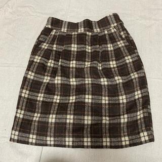 オリーブデオリーブ(OLIVEdesOLIVE)のチェックタイトスカート OLIVE des OLIVE(ひざ丈スカート)