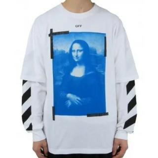 オフホワイト(OFF-WHITE)のOff-White BLUE MONAL DOUBLE SLEEVE TEE M(Tシャツ/カットソー(七分/長袖))