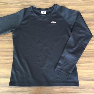 FILA - ランニング スポーツ用 長袖Tシャツ 黒 メッシュ Sサイズ