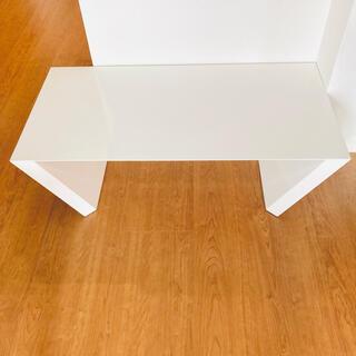 ホワイト シンプルローテーブル(ローテーブル)
