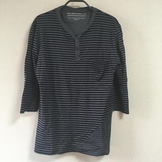 バレンシアガ(Balenciaga)のBALENCIAGA ボーダー ヘンリーネック Tシャツ(Tシャツ/カットソー(七分/長袖))