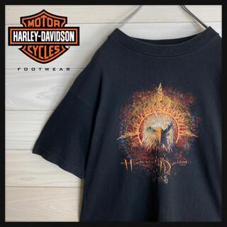 ハーレーダビッドソン(Harley Davidson)の【USA製】ハーレーダビッドソン☆両面ロゴ入りtシャツ 鷹柄 即完売モデル(Tシャツ/カットソー(半袖/袖なし))