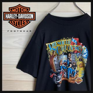 ハーレーダビッドソン(Harley Davidson)の【USA製】ハーレーダビッドソン☆両面ロゴ入りtシャツ デカロゴ 希少デザイン(Tシャツ/カットソー(半袖/袖なし))