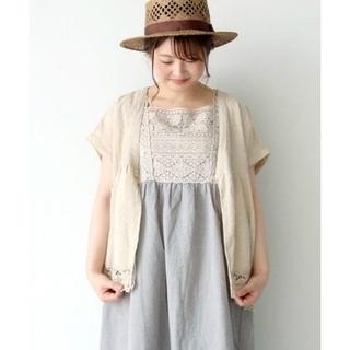 サマンサモスモス(SM2)の新品未使用品!サマンサモスモス裾レースはおりブラウス(Tシャツ(半袖/袖なし))