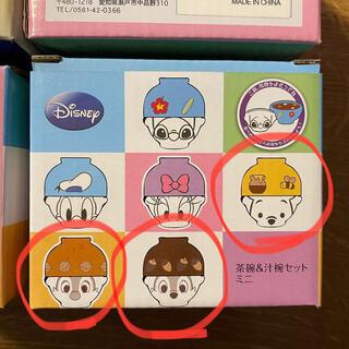 ディズニー(Disney)のディズニー汁椀・茶碗セットミニ 4種セット プーさん、チップとデール、他(プレート/茶碗)