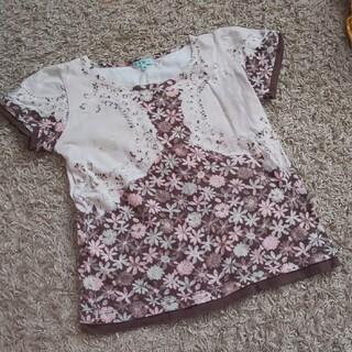トッカ(TOCCA)の【TOCCA】女の子 半袖トップス レース柄Tシャツ  130(Tシャツ/カットソー)