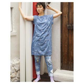 ツモリチサト(TSUMORI CHISATO)の今季◇tsumori chisato SLEEP◇裏毛×デニム風雲柄ボトム(ルームウェア)